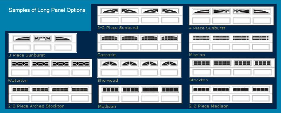 Garage Door Long Panel Options
